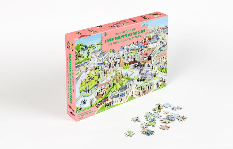 The Story of Impressionism 1000 Piece Jigsaw Puzzle: Spot the Artists in Belle Époque Paris