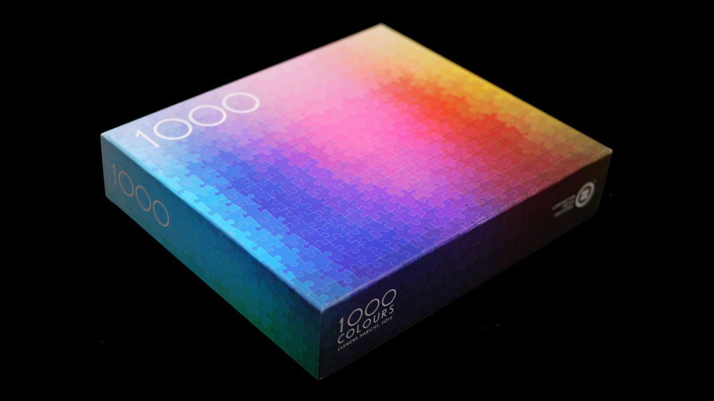 1000 Colours CMYK Puzzle by Clemens Habicht. Compendium Design Store, Fremantle. AfterPay, ZipPay accepted.