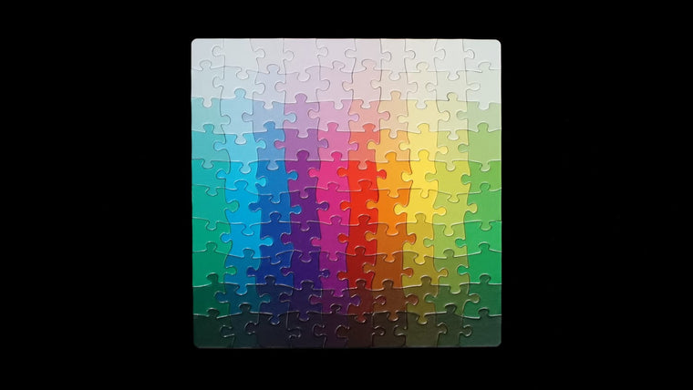 100 Colours Puzzle by Clemens Habicht. Clemens Habicht. Compendium Design Store. AfterPay, ZipPay accepted.