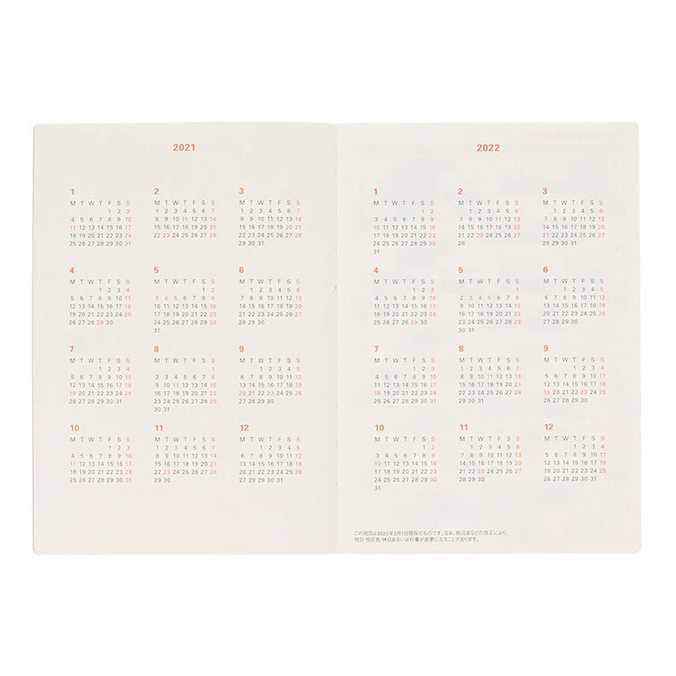 Delfonics 2021 Diary A5 Chambray Grey - Weekly + Notes. Compendium Design Store, Fremantle. AfterPay, ZipPay accepted.