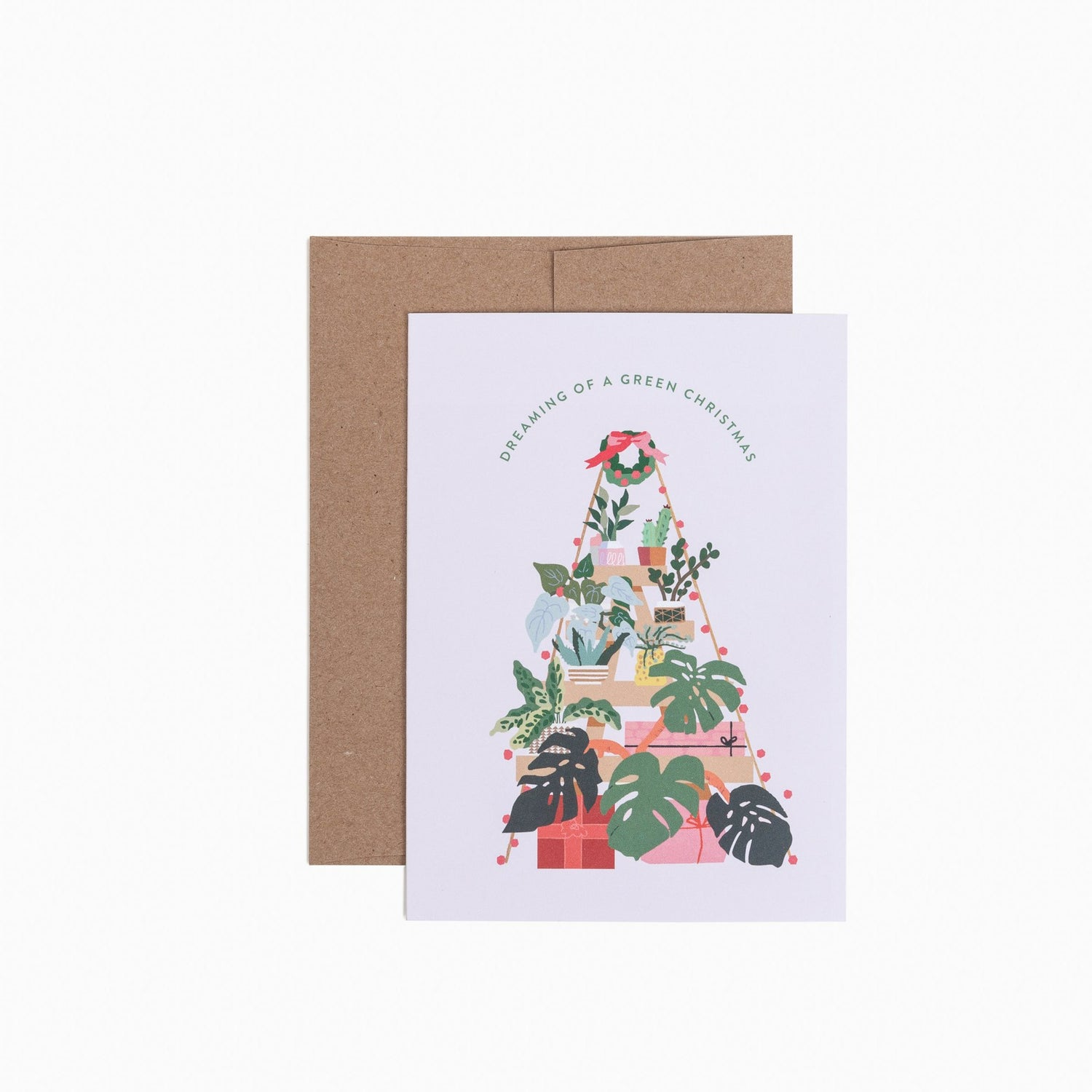 Dreaming of a Green Christmas Card. Compendium Design Store, Fremantle. AfterPay, ZipPay accepted.