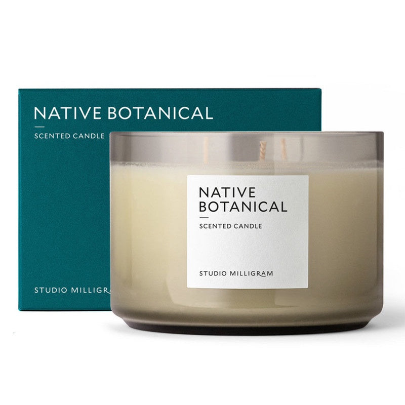 Native Botanicals Scented Soy Wax 3 Wick Candle 600g. Compendium Design Store, Fremantle. AfterPay, ZipPay accepted.