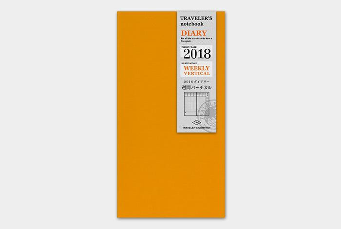 Traveler's Company Notebook Regular Size 2018 Diary Refills