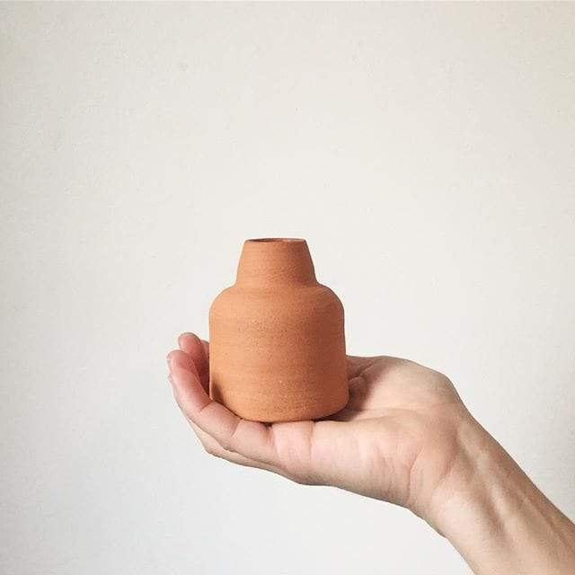 Sole Ceramics terracotta vase. Sole Ceramics. Compendium Design Store. AfterPay, ZipPay accepted.