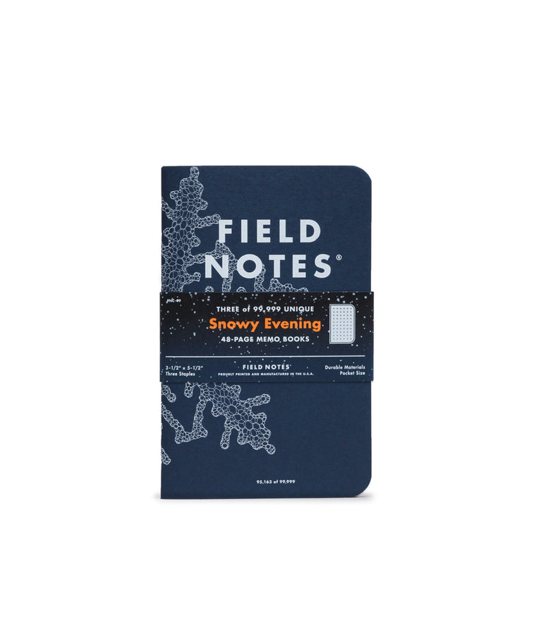 Field Notes Notebooks 'Snowy Evening' Edition · 3-Pack (Flake Grid)