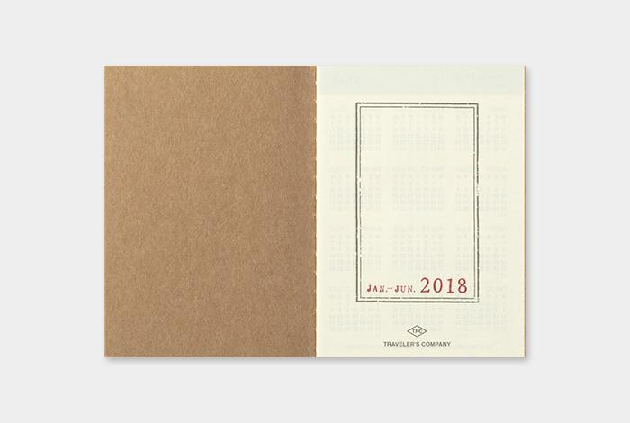 Traveler's Company Notebook Passport Size 2018 Diary Pack (Weekly)