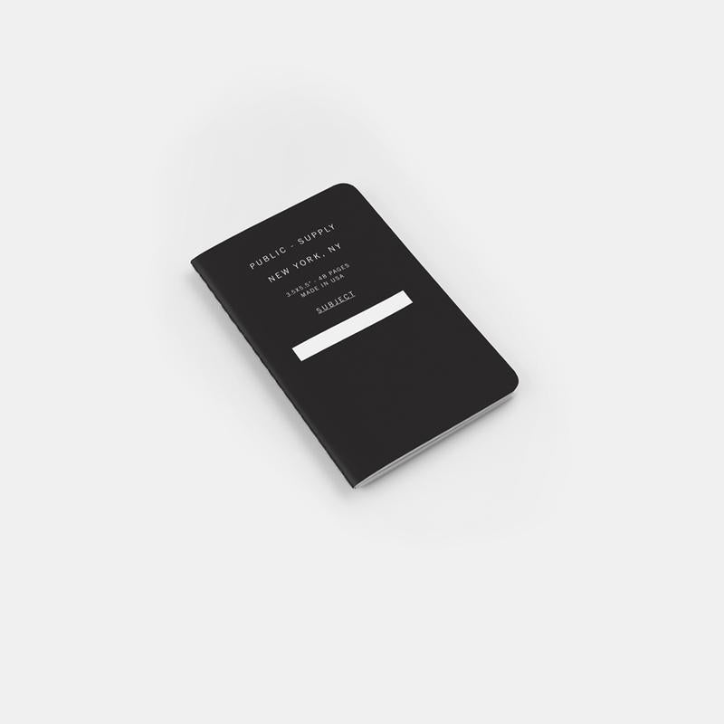 Public Supply Soft Cover Pocket Notebooks in Black - 3 Pack. Compendium Design Store, Fremantle. AfterPay, ZipPay accepted.