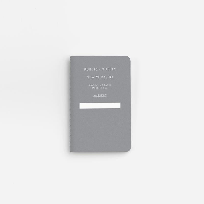 Public Supply Soft Cover Pocket Notebooks in Grey - 3 Pack. Compendium Design Store, Fremantle. AfterPay, ZipPay accepted.