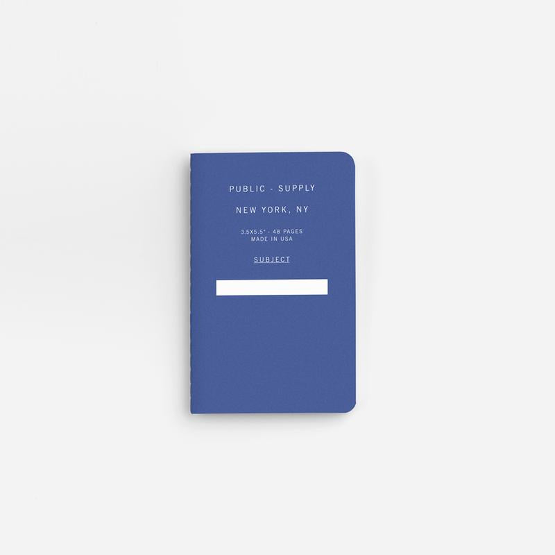 Public Supply Soft Cover Pocket Notebooks in Blue - 3 Pack