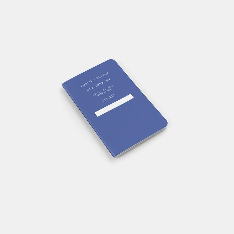 Public Supply Soft Cover Pocket Notebooks in Blue - 3 Pack. Compendium Design Store, Fremantle. AfterPay, ZipPay accepted.