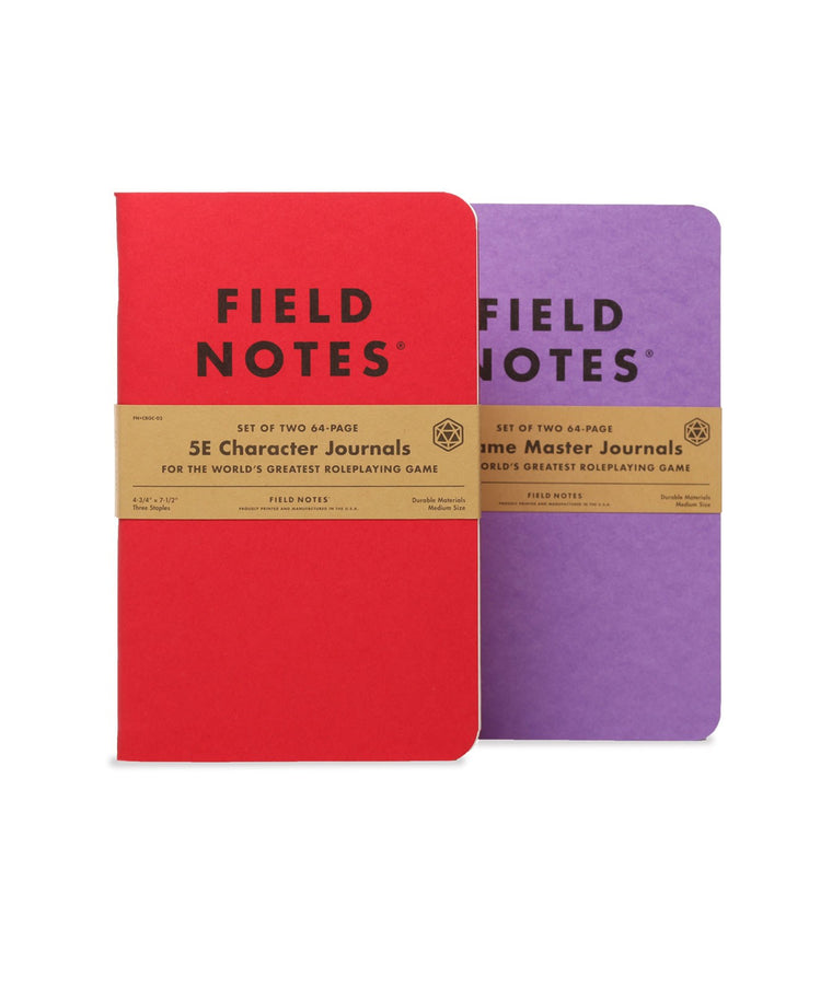 Field Notes Notebooks 5E Gaming Journals · 2-Pack