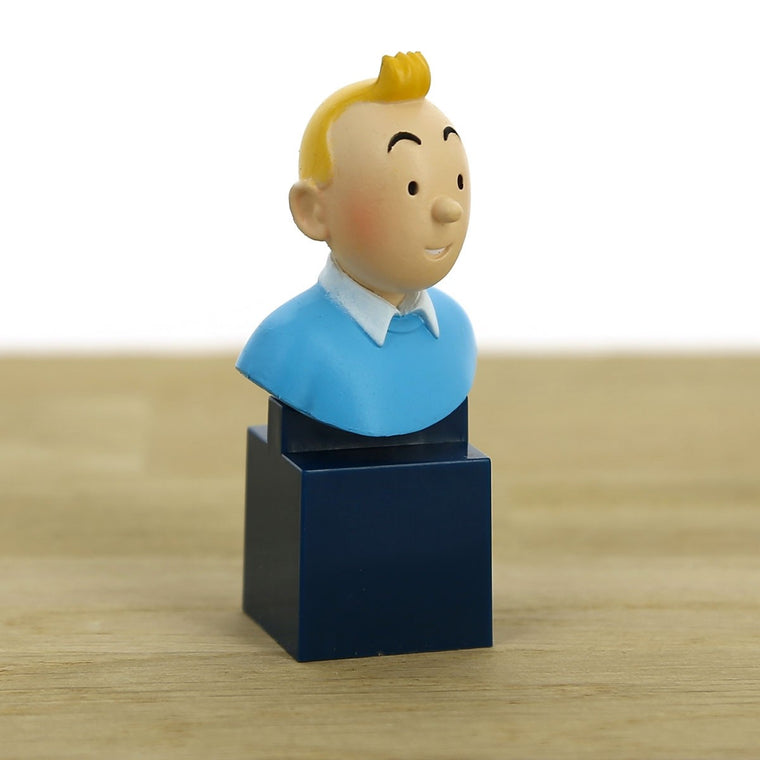 Bust figurine of Tintin. Moulinsart. Compendium Design Store. AfterPay, ZipPay accepted.
