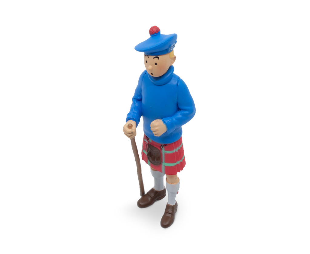 Tintin In His Kilt (Large) PVC Figurine 8cm. Compendium Design Store, Fremantle. AfterPay, ZipPay accepted.