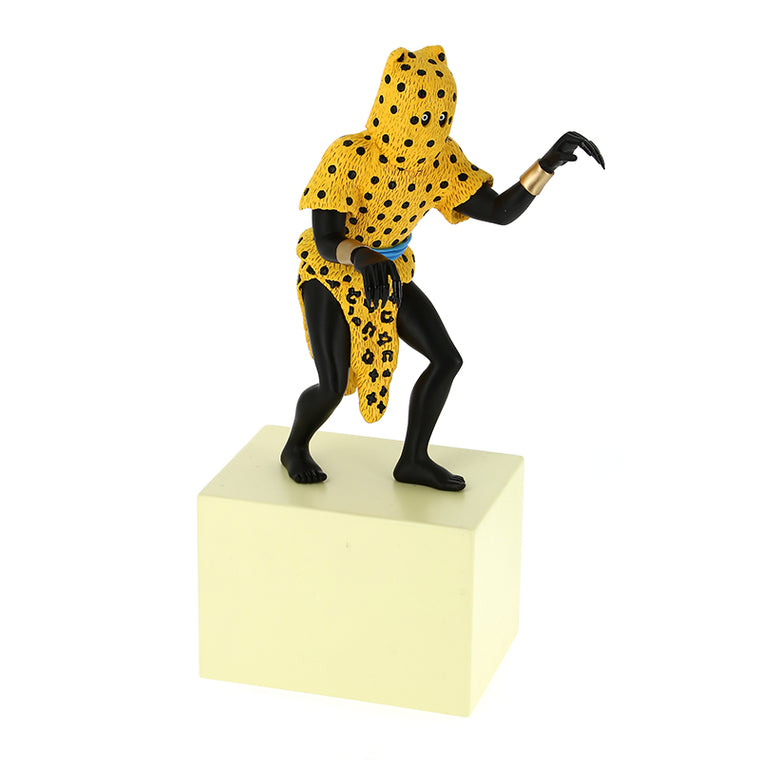 Leopard Man Polychrome resin from Musée Imaginaire de Tintin