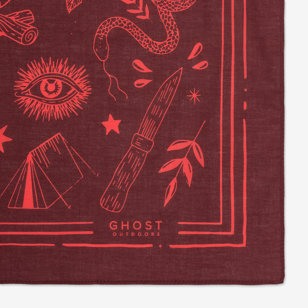 Ghost Outdoors Bush Craft Bandana. Compendium Design Store, Fremantle. AfterPay, ZipPay accepted.