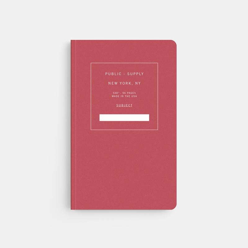 Public Supply Soft Cover Notebook in Red. Compendium Design Store, Fremantle. AfterPay, ZipPay accepted.