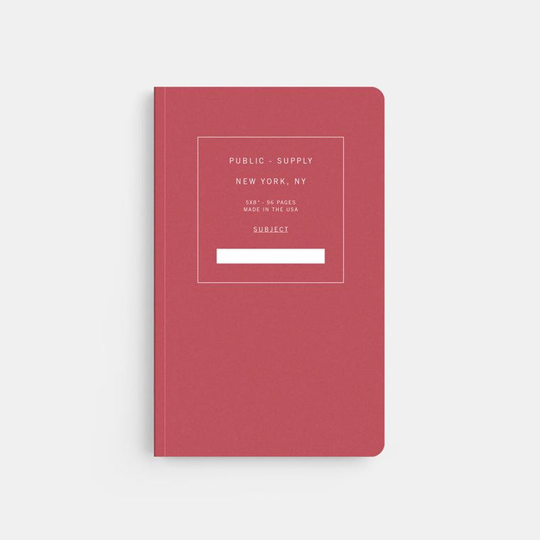 Public Supply Soft Cover Notebook in Red