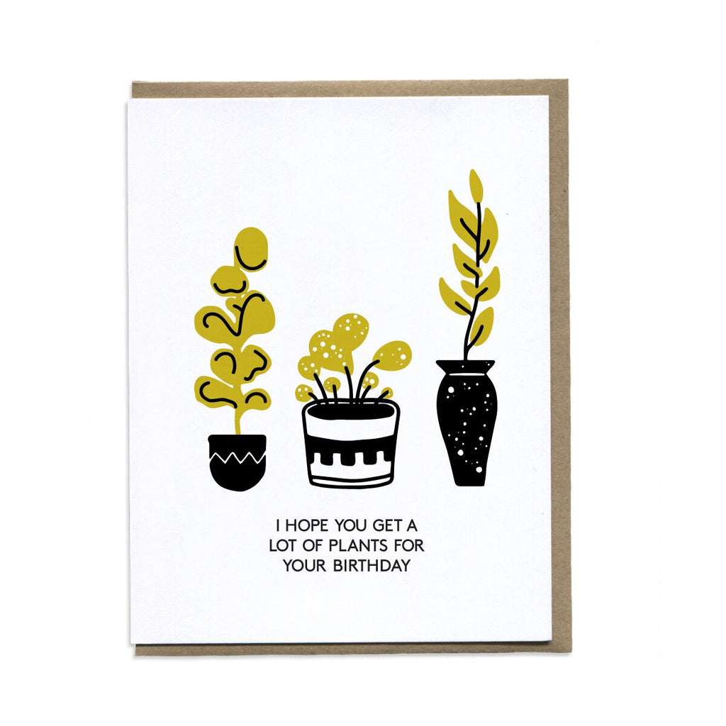 Plants For Your Birthday Greeting Card. Compendium Design Store, Fremantle. AfterPay, ZipPay accepted.