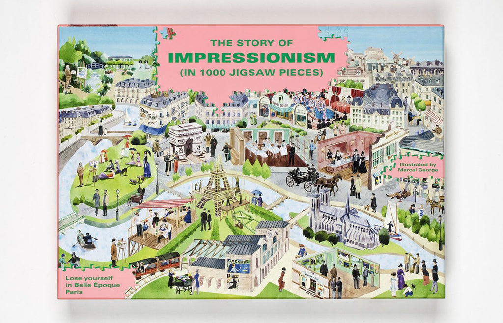 The Story of Impressionism 1000 Piece Jigsaw Puzzle: Spot the Artists in Belle Époque Paris. Compendium Design Store, Fremantle. AfterPay, ZipPay accepted.