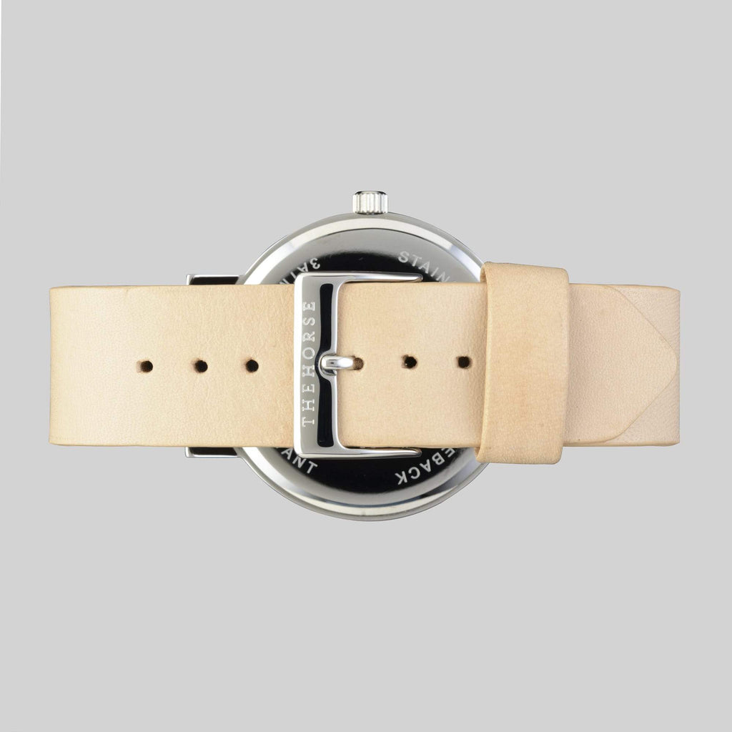 A8 The Horse Original watch in Steel with Gold indexing and Veg Tan. The Horse. Compendium Design Store. AfterPay, ZipPay accepted.