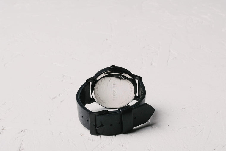A6 The Horse Original watch in Black. The Horse. Compendium Design Store. AfterPay, ZipPay accepted.