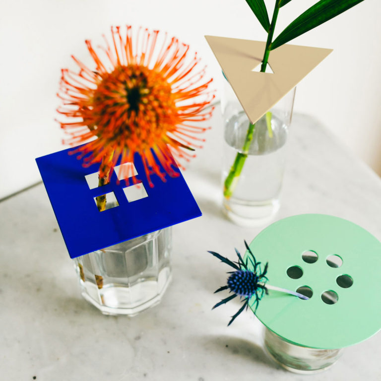 Anywhere Vases in Mint/Cobalt/Tan. Compendium Design Store, Fremantle. AfterPay, ZipPay accepted.