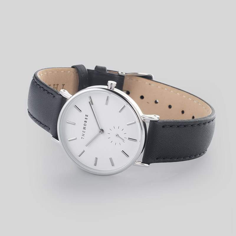 B2 The Horse Classic watch in White, Silver and Black. The Horse. Compendium Design Store. AfterPay, ZipPay accepted.