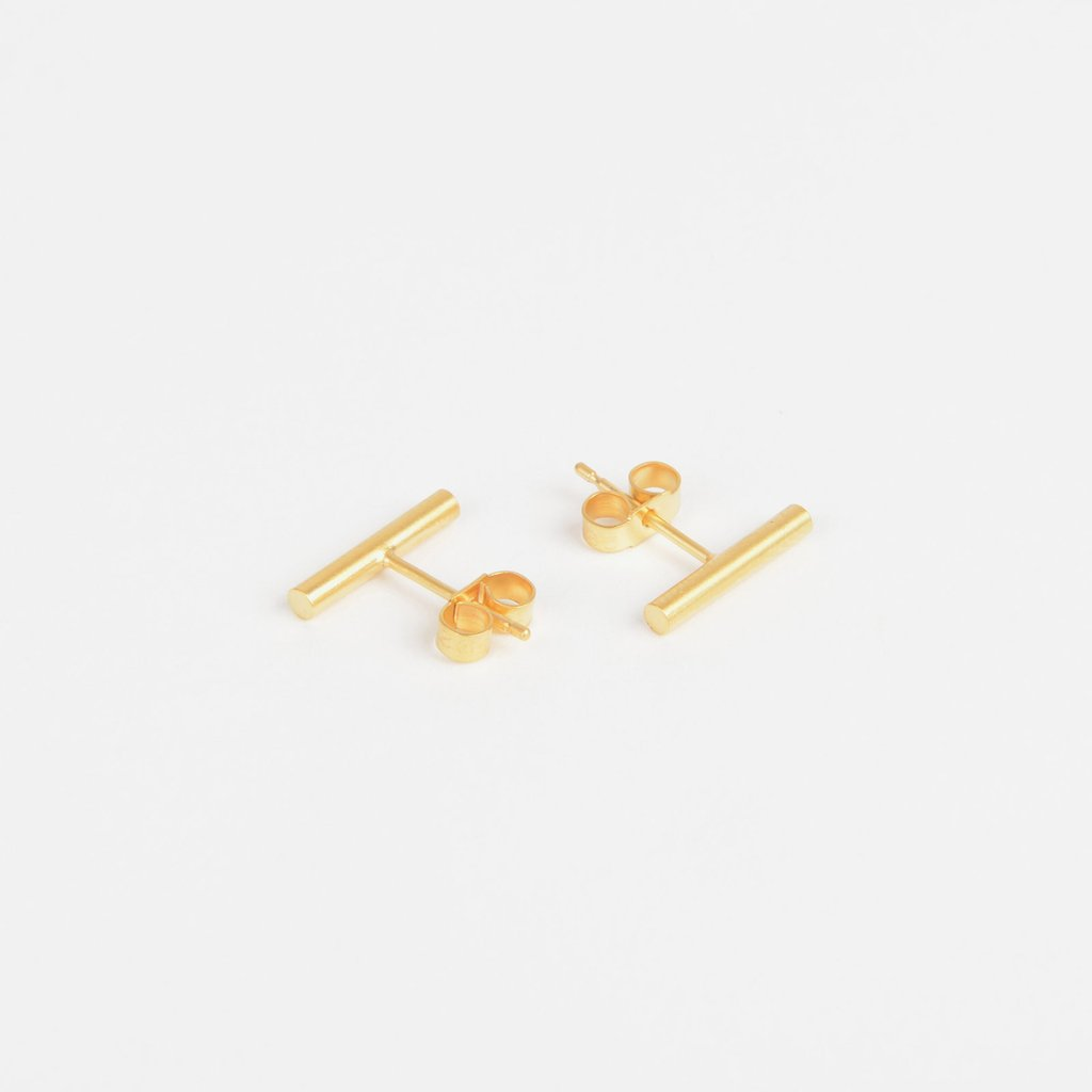 Tom Pigeon Béton Series Pillar Earrings · Gold
