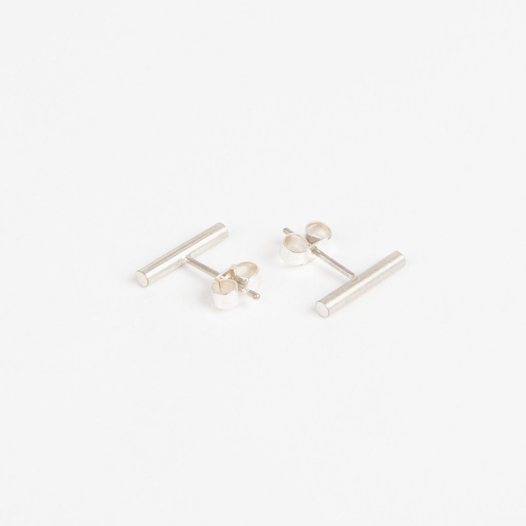 Tom Pigeon Béton Series Pillar Earrings · Solid Silver