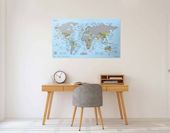 Bucketlist Scratch Map Poster. Compendium Design Store, Fremantle. AfterPay, ZipPay accepted.