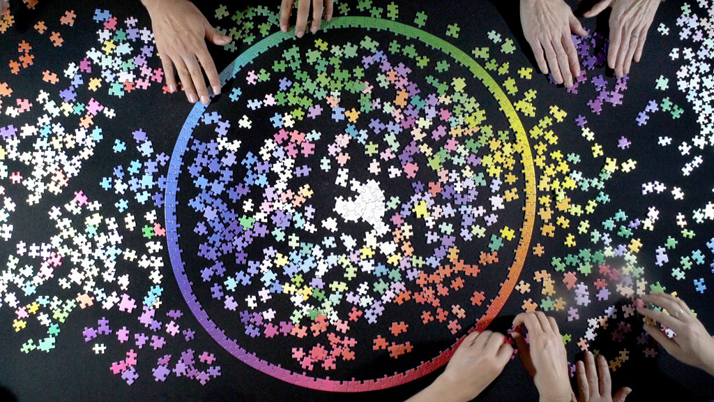 1000 Colours Puzzle Wheel by Clemens Habicht. Compendium Design Store, Fremantle. AfterPay, ZipPay accepted.