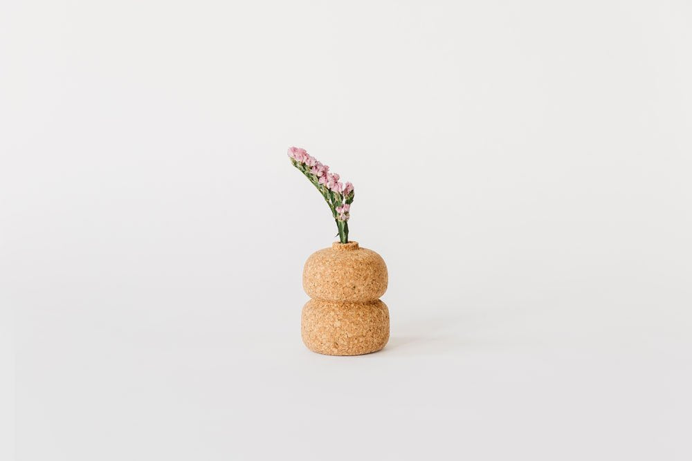Cork Bud Double Vase. Compendium Design Store, Fremantle. AfterPay, ZipPay accepted.