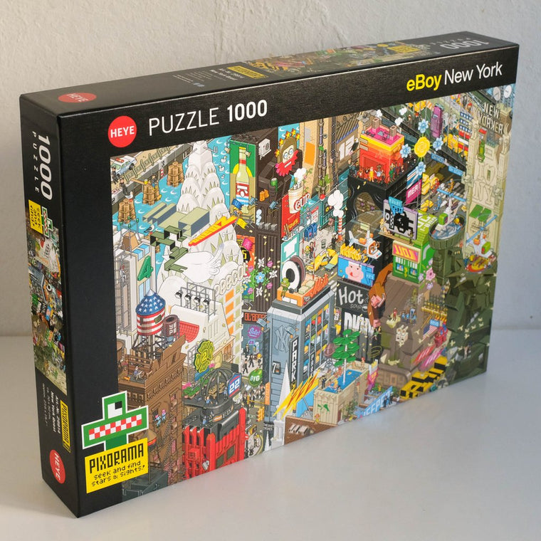 eBoy New York Quest Pixorama 1000 Piece Puzzle