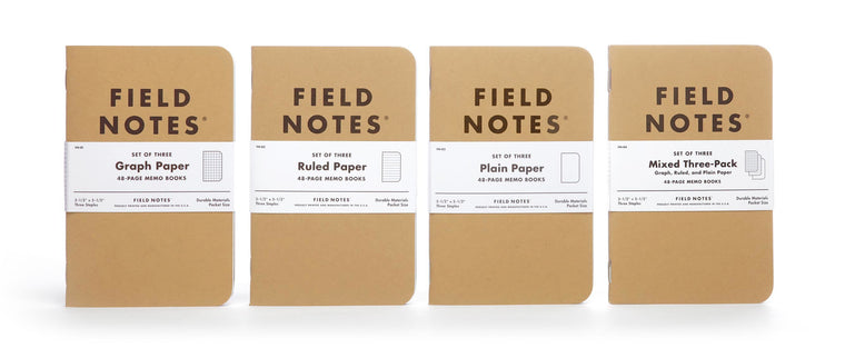 Field Notes notebooks Original Kraft Edition · 3-Pack (1 of each). Field Notes. Compendium Design Store. AfterPay, ZipPay accepted.