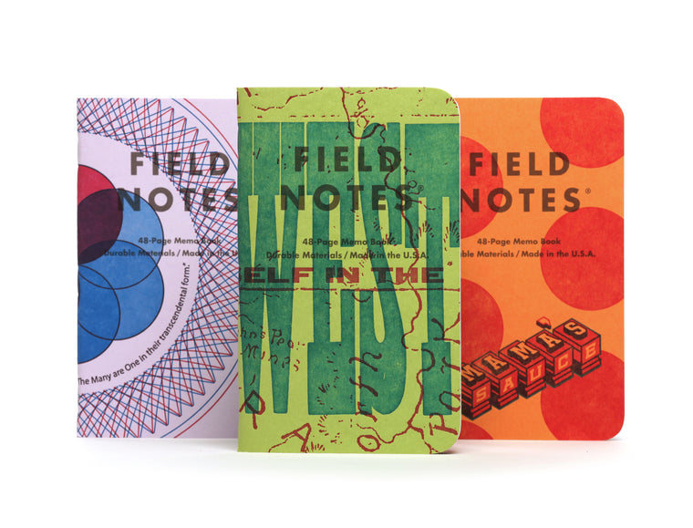 Field Notes Notebooks 'United States of Letterpress' Edition · 3-Pack
