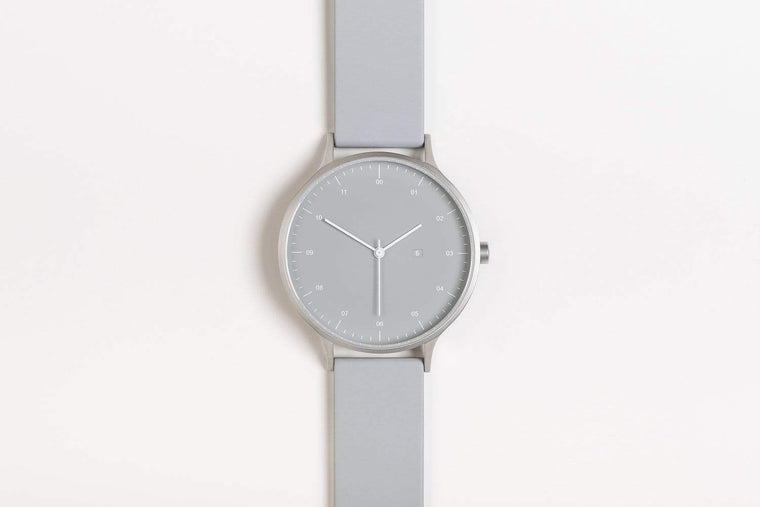Instrmnt K-Series Unisex watch K-31, Silver & Light Grey rubber. Instrmnt. Compendium Design Store. AfterPay, ZipPay accepted.