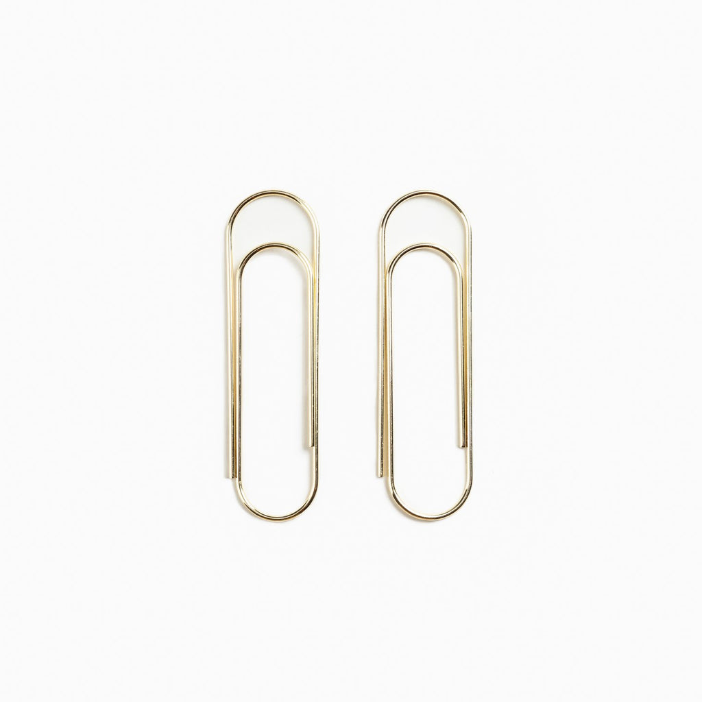 Pair of Giant Paper Clips. Compendium Design Store, Fremantle. AfterPay, ZipPay accepted.
