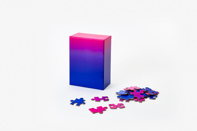 Blue To Pink Gradient 100 Piece Puzzle