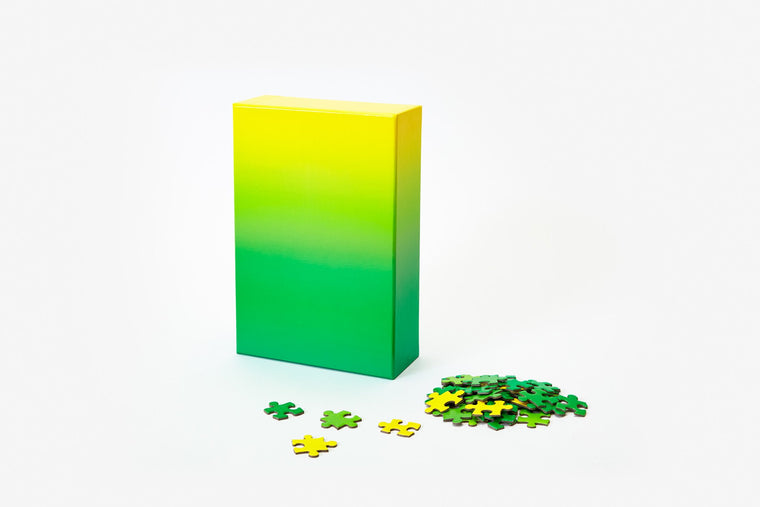 Green To Yellow Gradient 500 Piece Puzzle