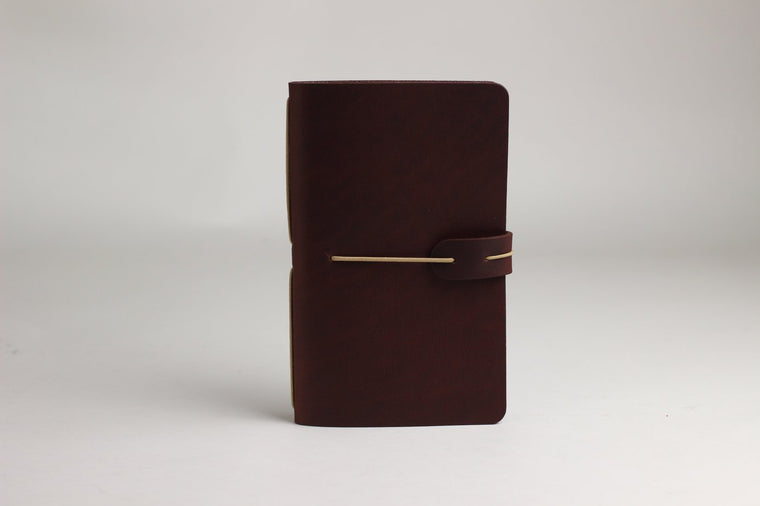 Isaac Francis Leather Notebook Cover in Redwood