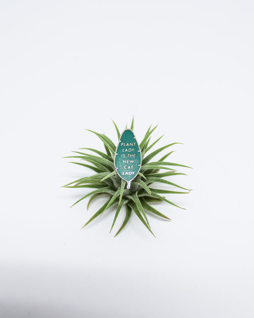 Plant Lady is the New Cat Lady Pin. Compendium Design Store, Fremantle. AfterPay, ZipPay accepted.