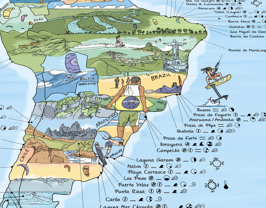 The Kite Surf Map Re-Writable Poster. Compendium Design Store, Fremantle. AfterPay, ZipPay accepted.