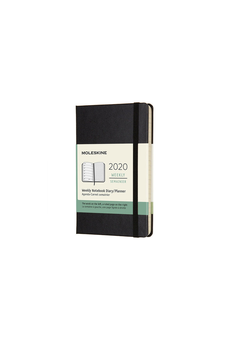 Moleskine 2020 Diary Weekly Notebook Pocket Hardcover Black