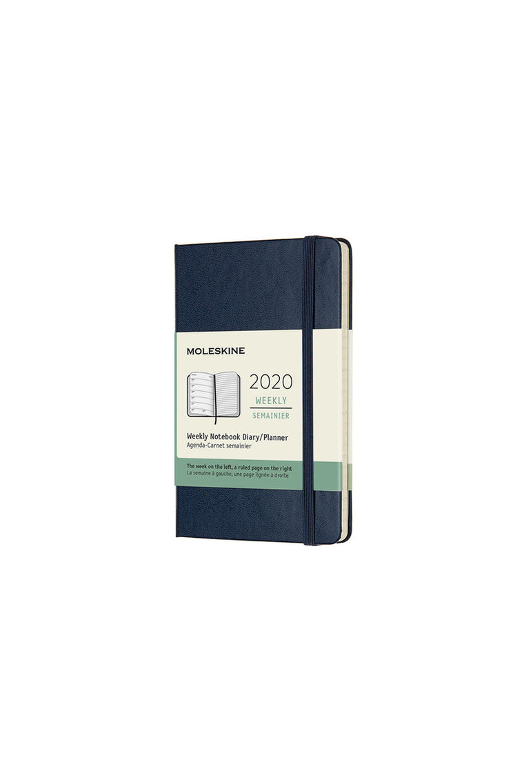 Moleskine 2020 Diary Weekly Notebook Pocket Hardcover Sapphire Blue