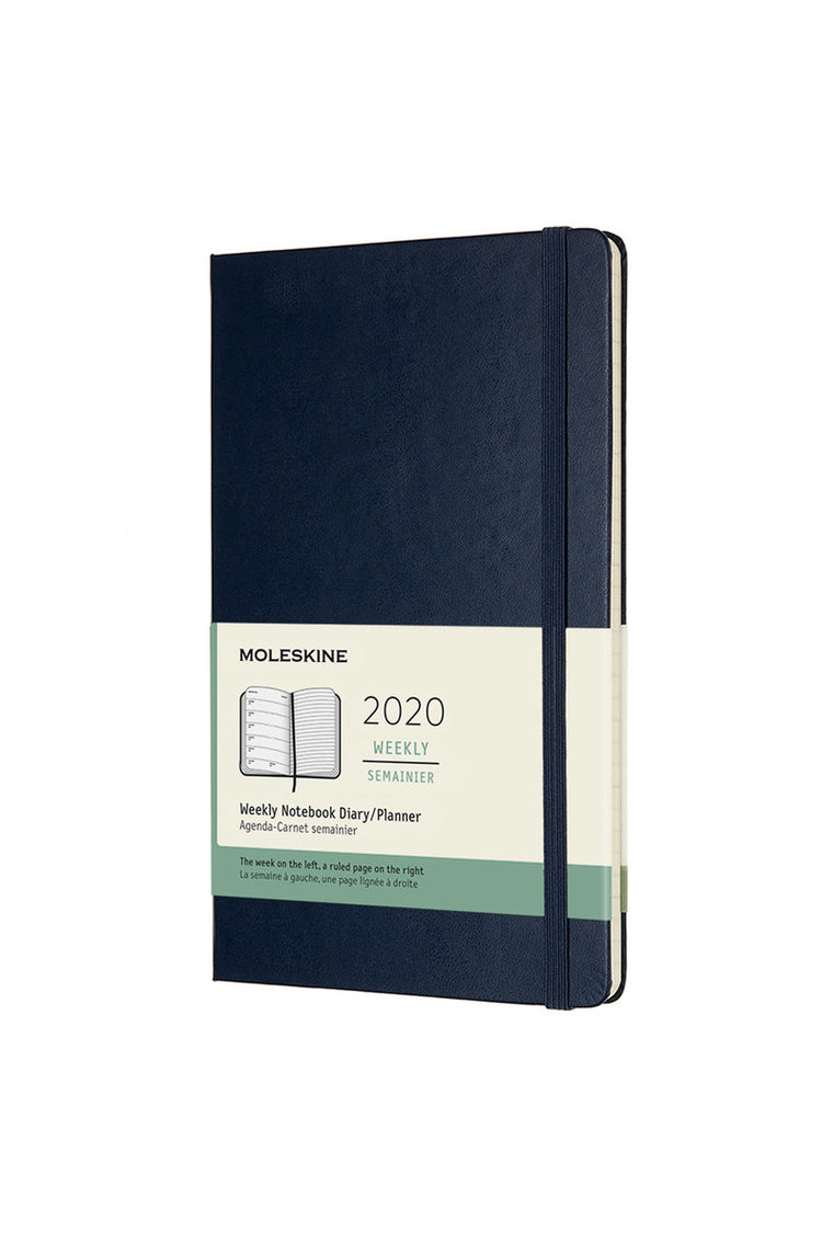 Moleskine 2020 Diary Weekly Notebook Large Hardcover Sapphire Blue