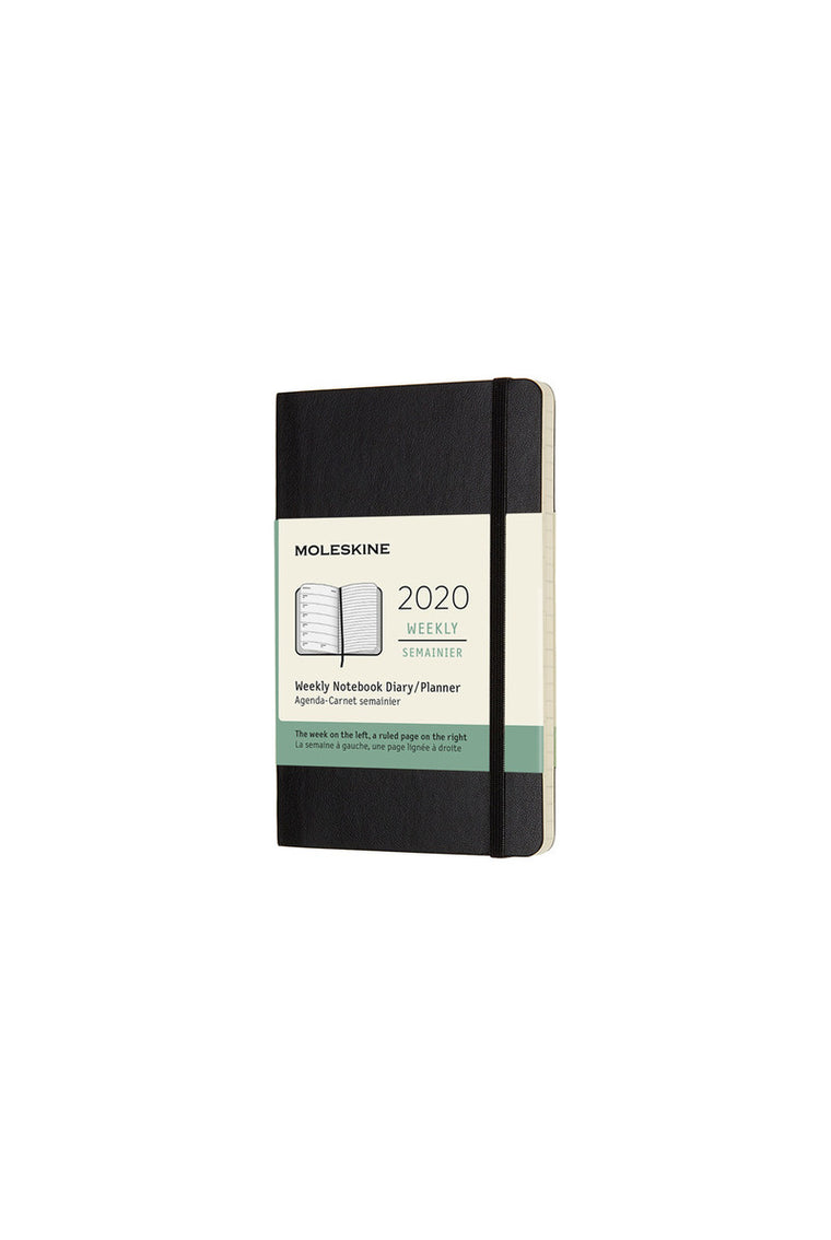 Moleskine 2020 Diary Weekly Notebook Pocket Softcover Black