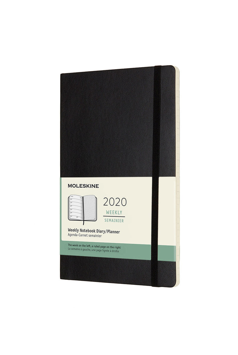 Moleskine 2020 Diary Weekly Notebook Large Softcover Black