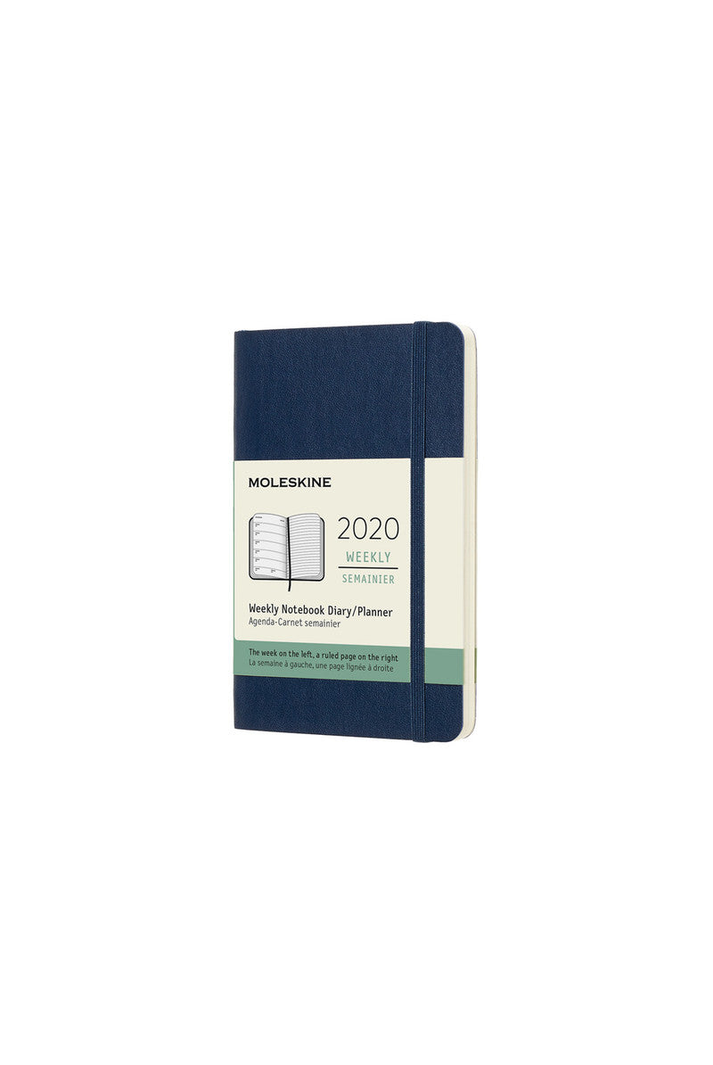 Moleskine 2020 Diary Weekly Notebook Pocket Softcover Sapphire Blue