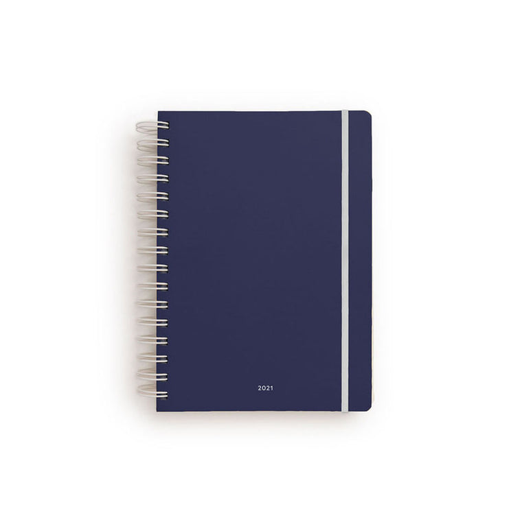 Milligram 2021 Non-Diary Daily A5 Spiral (Ruled) Navy