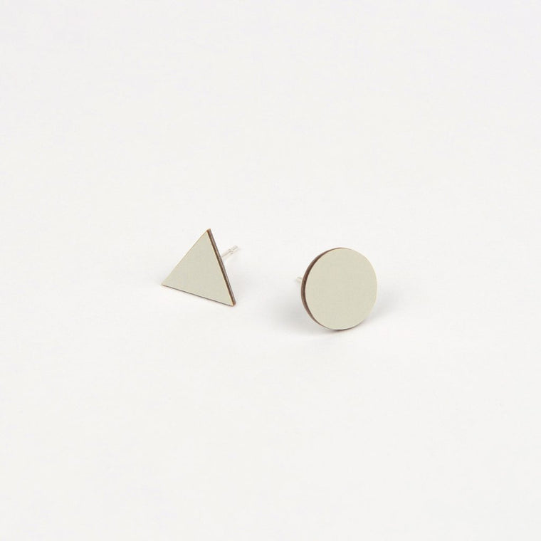 Tom Pigeon Form Series Mix Match Earrings in Grey. Tom Pigeon. Compendium Design Store. AfterPay, ZipPay accepted.